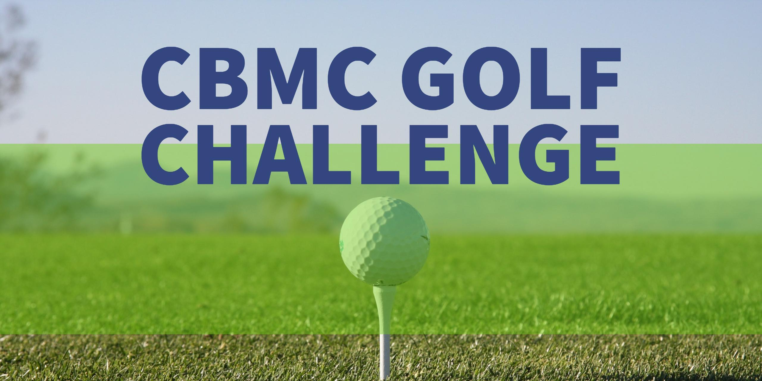 CBMC Golf Challenge wording on a golf green